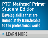 PTC Mathcad Prime 3.1 Student Edition – Perpetual License - 105.00 USD - Order Now!