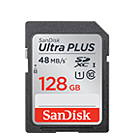 SanDisk Ultra PLUS SDHC & SDXC 48MB/s UHS-I Card