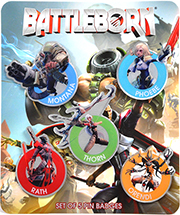 Battleborn® Pin Badges - Set of 5