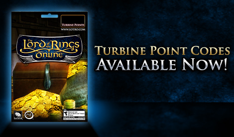 The Lord of the Rings Online™ 2,500 Turbine Point Code