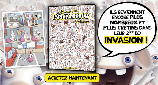 BD The Lapins Crétins - Tome 2. L'invasion