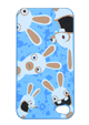 Custodie per iPhone 4/4S Rabbids - Blu