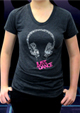 Headphone Short Sleeve T - Heather Black