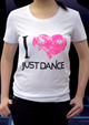 I 'heart' Just Dance Tee Short Sleeve T - White