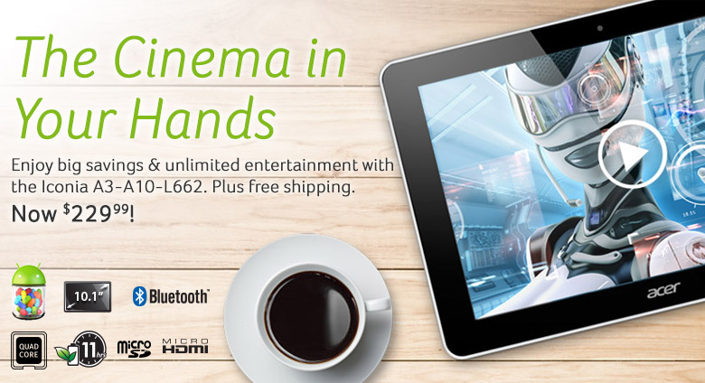 Iconia A3-A10-L662 Android Tablet