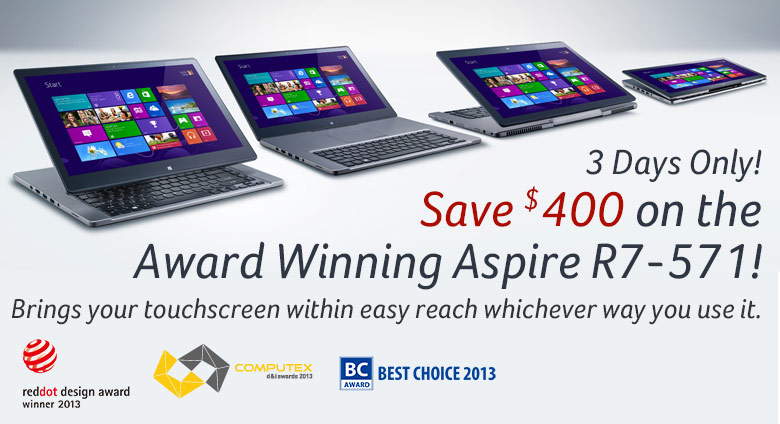 Aspire R7-571-6858 Touchscreen Notebook