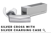 ERA by Jawbone - Silver Cross w/ Charging Case