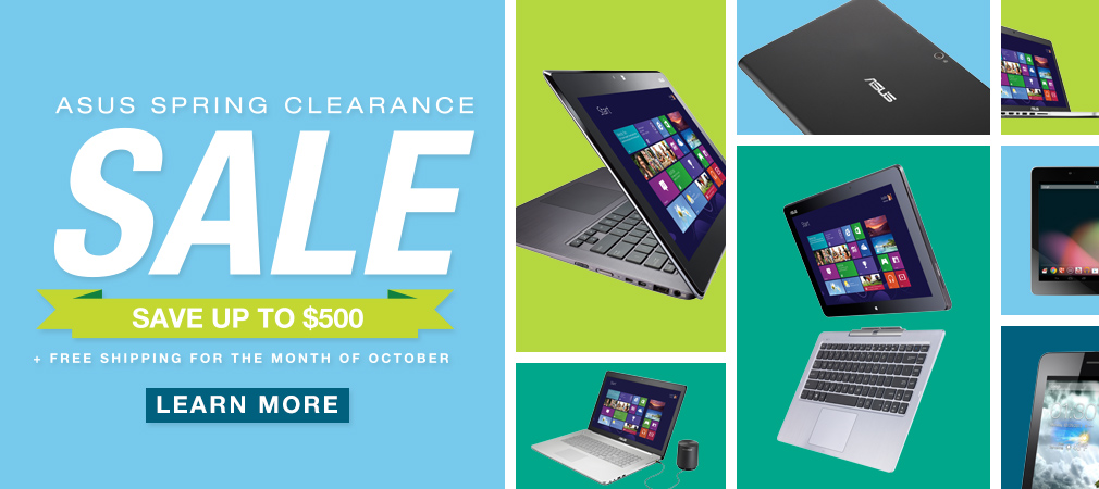 We're having a Spring Clearance Sale, where you save up to $500 on a range of products! PLUS free shipping until the end of October