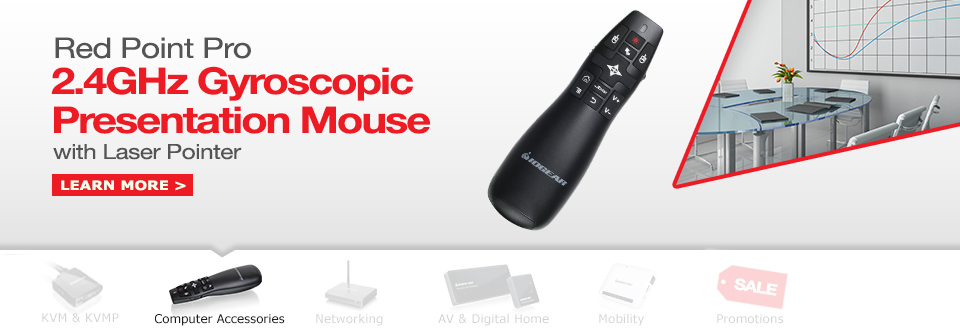 Red Point Pro 2.4GHz Gyroscopic Presentation Mouse with Laser Pointer