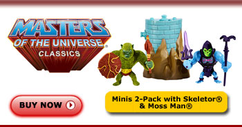 <em>Mini</em> Skeletor® and Moss Man® Figures