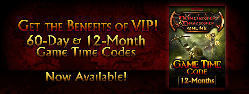 Dungeons & Dragons Online™ 12-Month Game Time Code