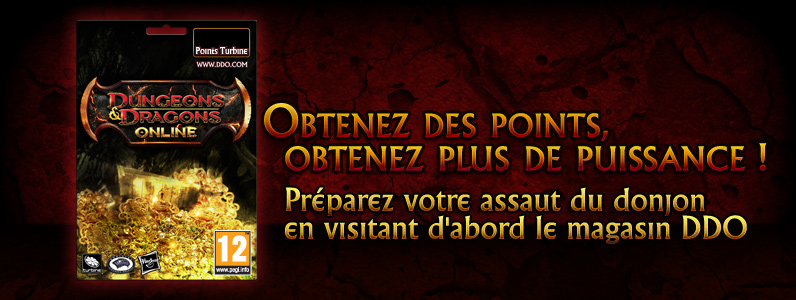 Code de points Turbine pour Dungeons & Dragons Online - 23000 points