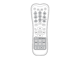 Remote Control for BenQ IL420 / IL460 / IL650 / PH460 / PH550 / PL460 / PL550 / RP650 / SL460