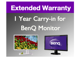 Image of 1 Year Carry-in Extended Warranty for BenQ Designer Monitor 27