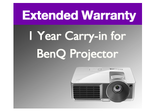Image of 1 Year Carry-In Extended Warranty for BenQ Projector 5 Series