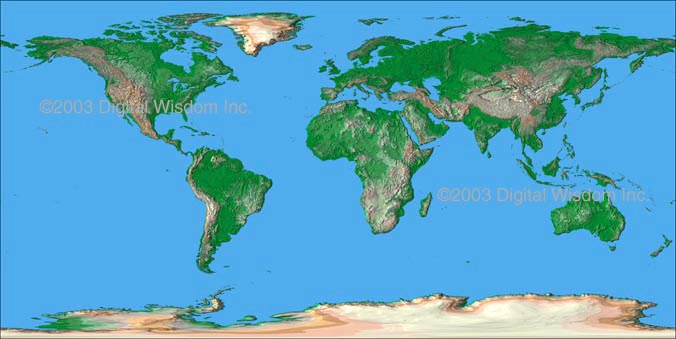 Relief Map Of The World.Digital Wisdom Inc Online Store World Map Package 4 Km Relief