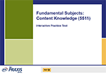 Fundamental Subjects: Content Knowledge (5511), 90-Day Subscription