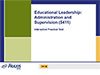 Educational Leadership: Administration and Supervision (5411), 90-Day Subscription