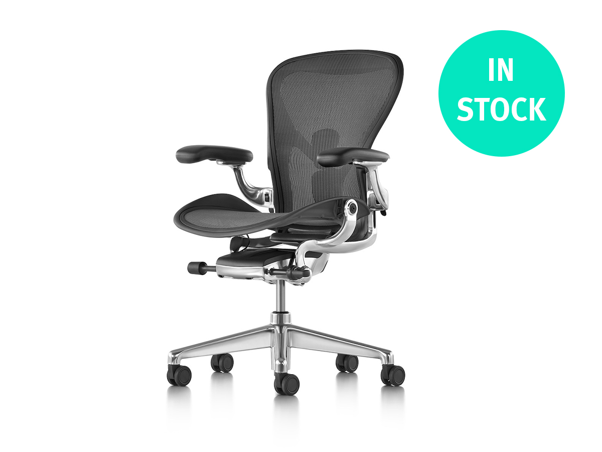 Aeron Office Chair - Graphite Polished