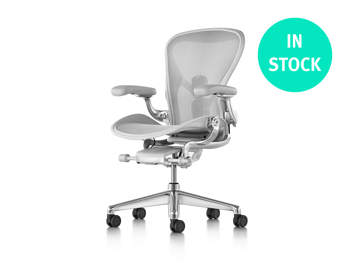 Aeron Office Chair - Mineral Polished