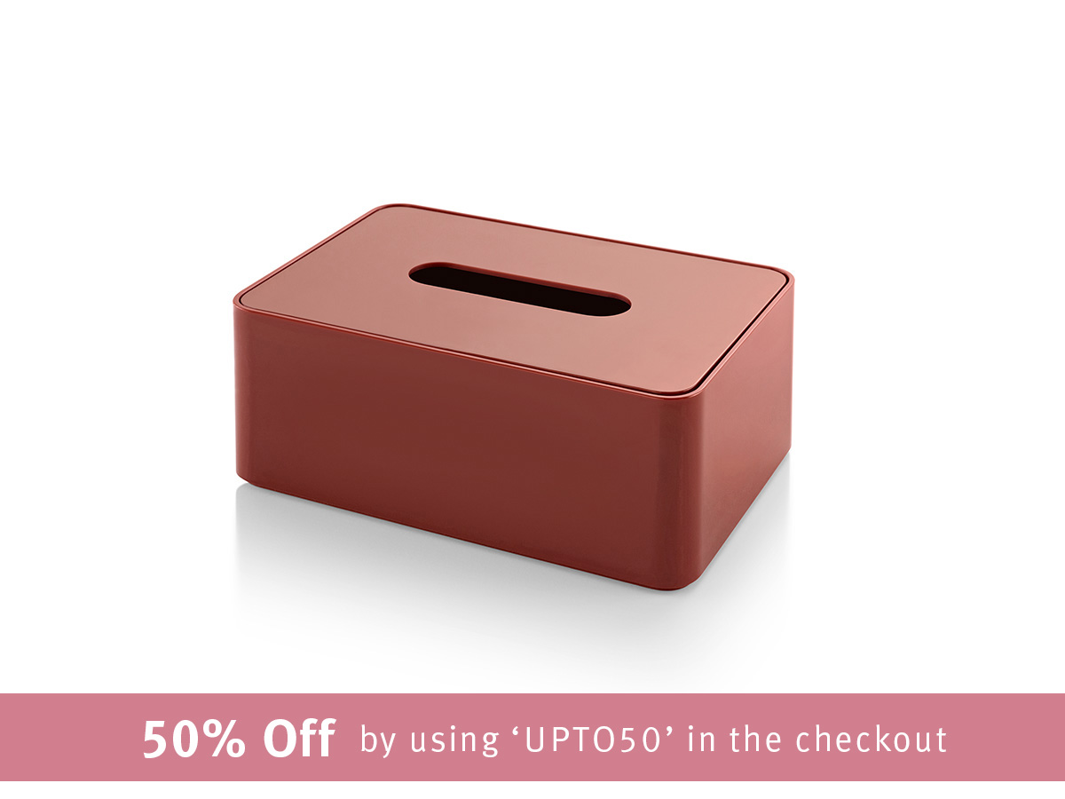 Formwork Tissue Box - Terracotta