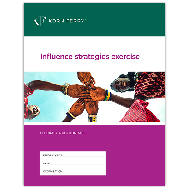 Influence Strategies Exercises - Feedback version - 10 PK