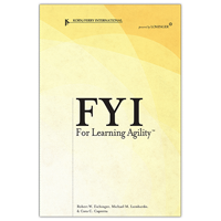 FYI for Learning Agility™ (2004 1st edition, gold cover)