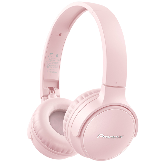 SES3BTP Wireless Stereo Headphones (Pink)
