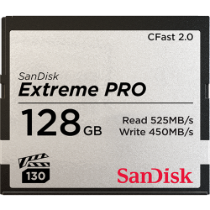 SanDisk Extreme Pro CFast 2.0 (525MB/s) Memory Card - 128GB