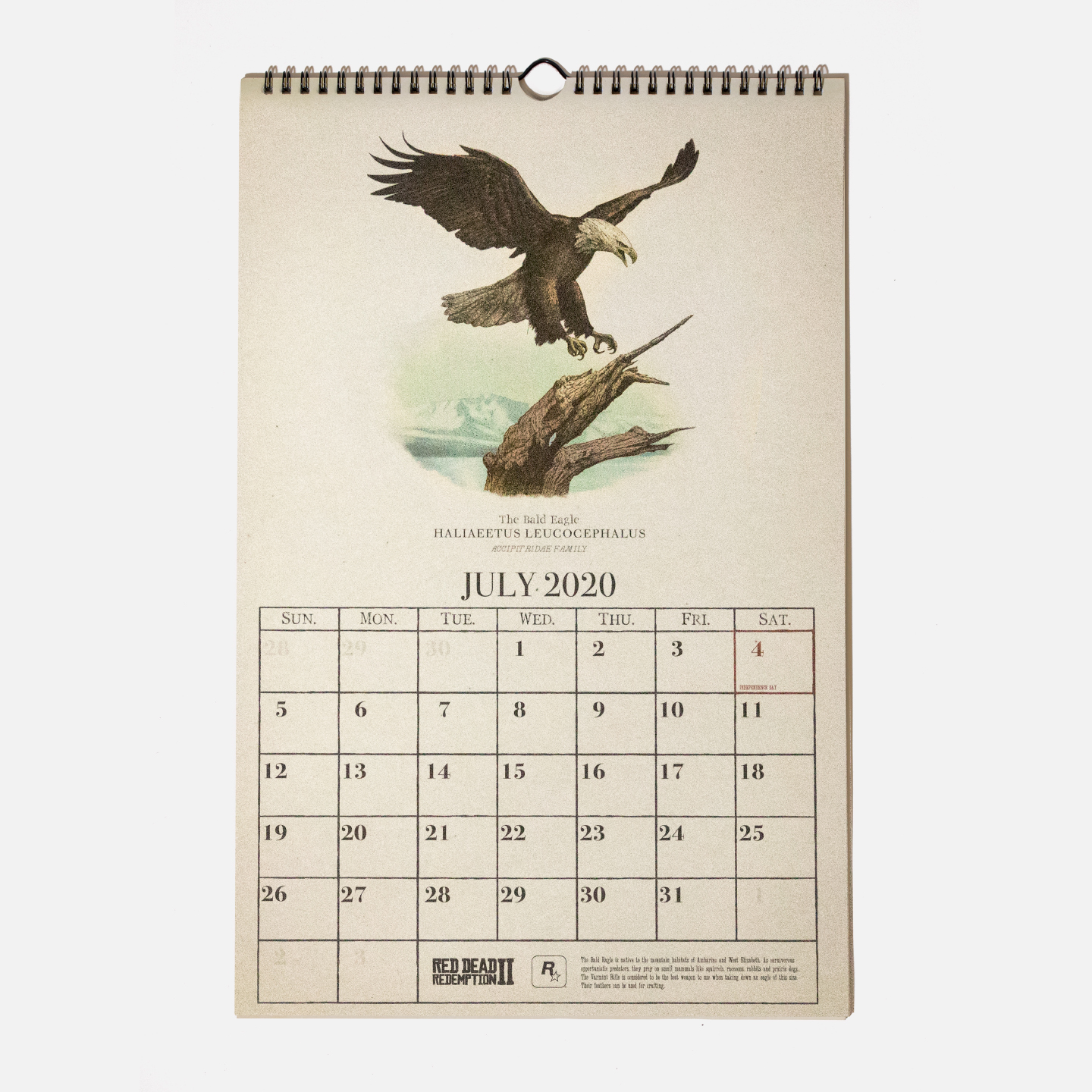 Red Dead Redemption 2 Wildlife Calendar