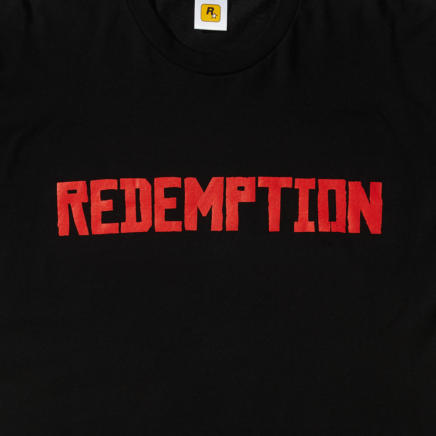 REDEMPTION Tee (Red on Black)