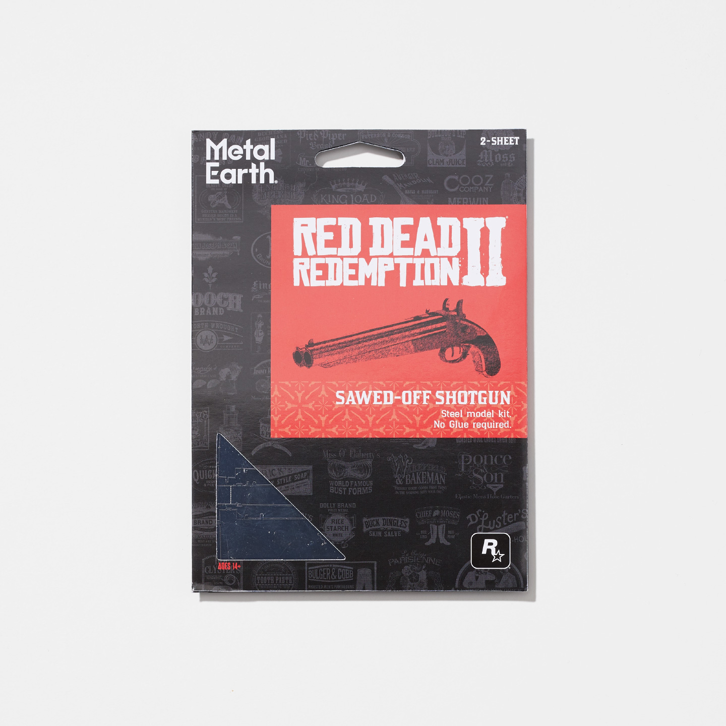 Red Dead Redemption 2 Metal Earth Sawed-Off Shotgun 3D Puzzle