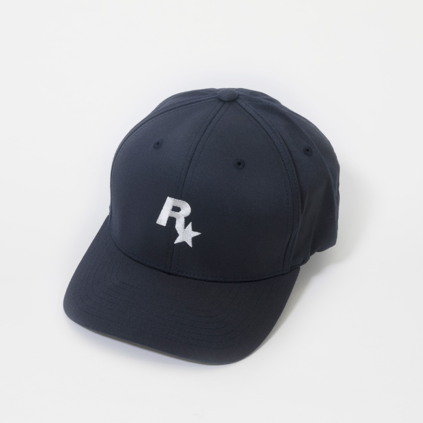 Rockstar Baseball Cap: Navy and White