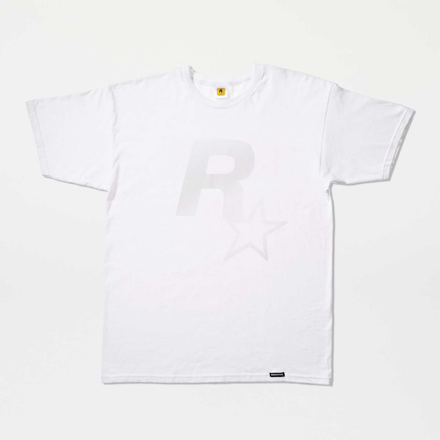 Rockstar Logo White Out Tee