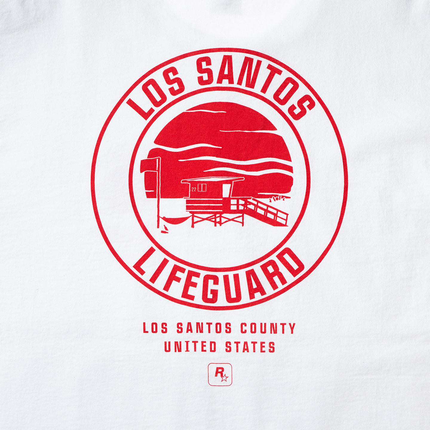White Los Santos Lifeguard Tee