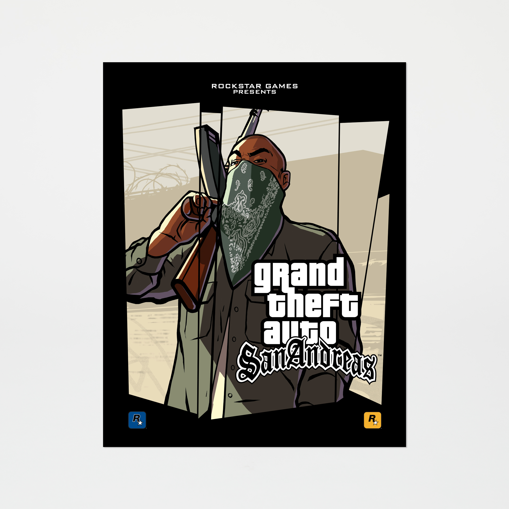 Grand Theft Auto: San Andreas - Scarf Face Poster