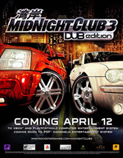 Midnight Club 3 - Coming April Poster