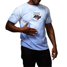 Vice City 10th Anniversary Blue Body Faders® Tee